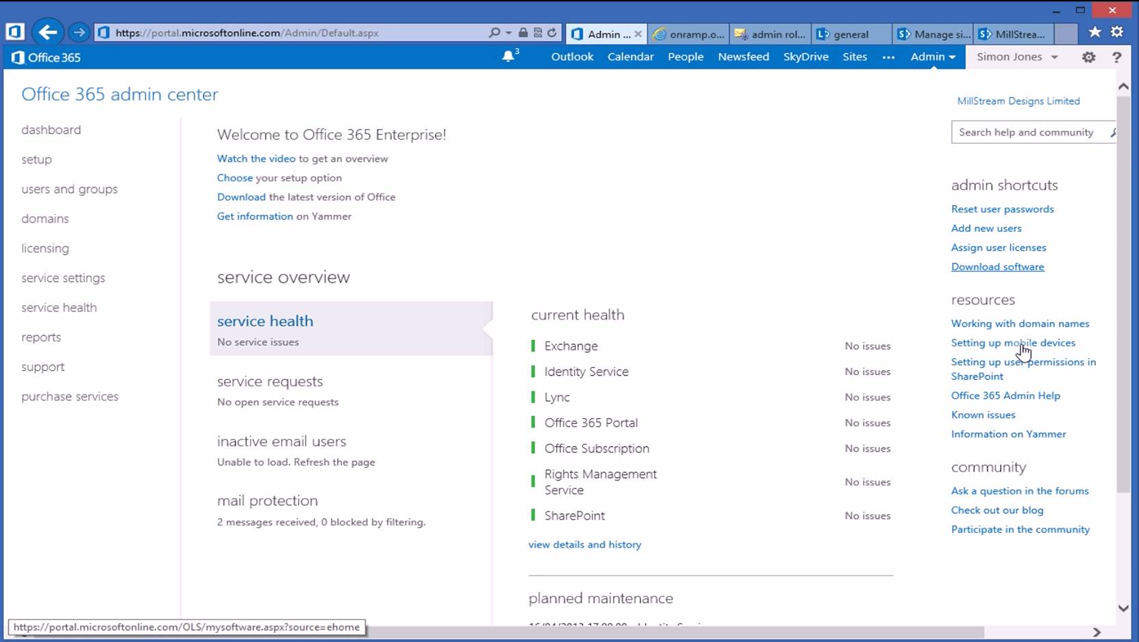 Image gallery office 365 admin for Window 365 login